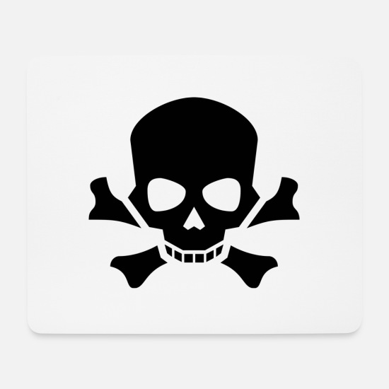 Toxic Mouse Pads - danger - Mouse Pad white