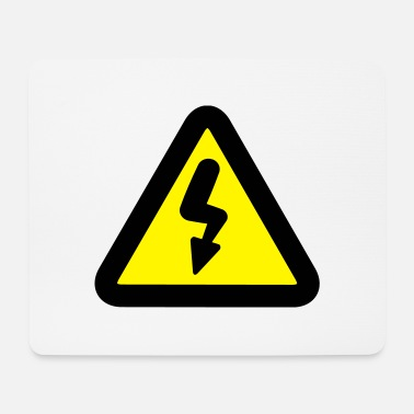 Road Sign Electricity road sign - Mouse Pad