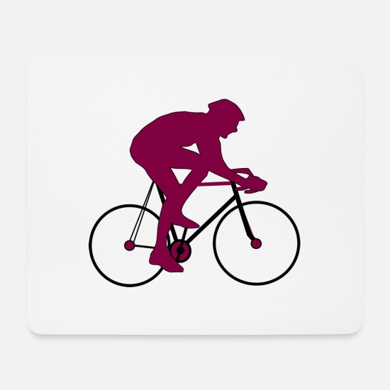 Gift Idea Mouse Pads - Road bike racing cyclist silhouette gift - Mouse Pad white