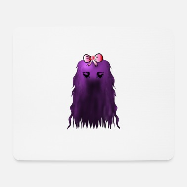 Purple Hair Purple hair monster - Mouse Pad