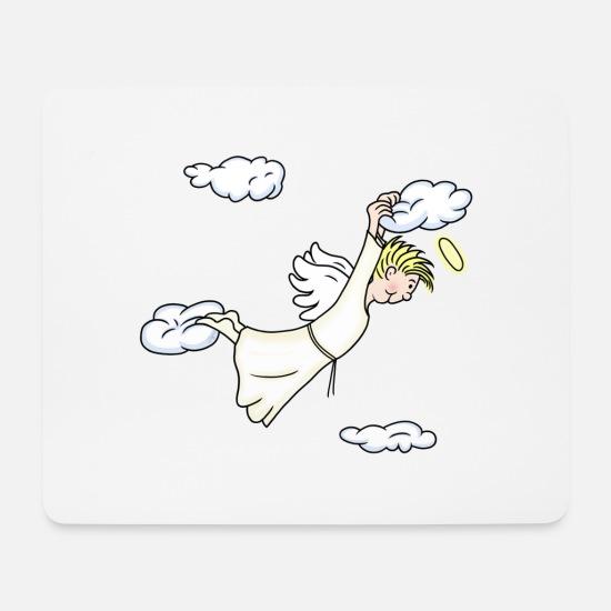 Kleiner Engel Gute Nacht Mousepad Querformat Weiß