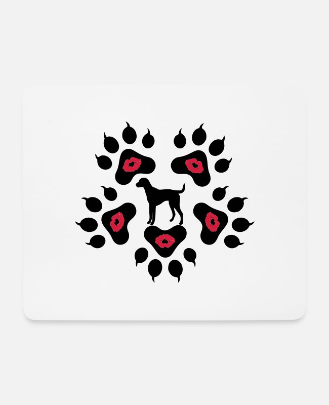 I Love Wild Animals Cool Awesome Animal Footprint Sign Design For Cute Animal Fashion Products Mouse Pads - ♥ټMwah Dog Footprints-I Love Dogsټ♥ - Mouse Pad white