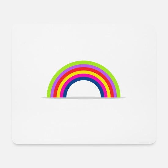 Skies Mouse Pads - rainbow - Mouse Pad white