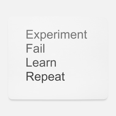 Experiment Fail Learn Repeat - Mousepad (bredformat)