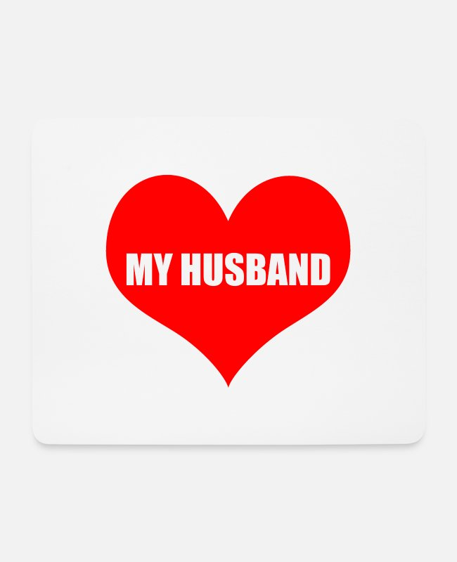 Husband Mouse Pads - husband - Mouse Pad white
