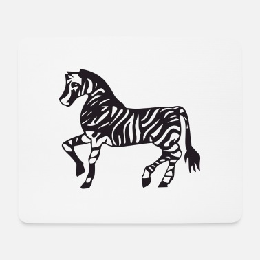 Zebra Zebra Illustration - Mousepad (Querformat)