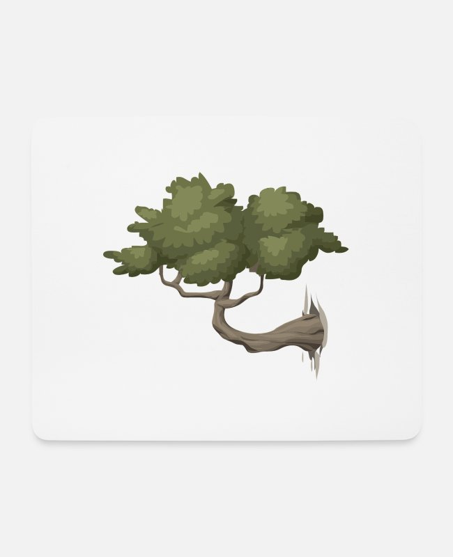Nature Mouse Pads - tree - Mouse Pad white