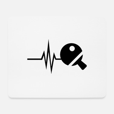 Ball My heart beats for table tennis - tennis ball - Mouse Pad