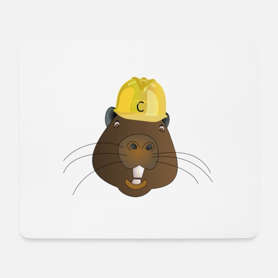 Usa Mouse Pads - beaver biber rodent rodents wood water2 - Mouse Pad white