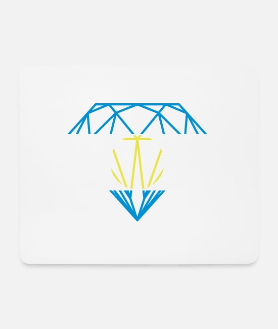 Brilliant Mouse Pads - Argentine Diamond - Mouse Pad white