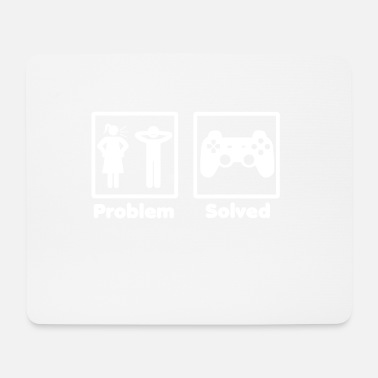 Gaming problem solved gaming gamer - Mousepad (Querformat)