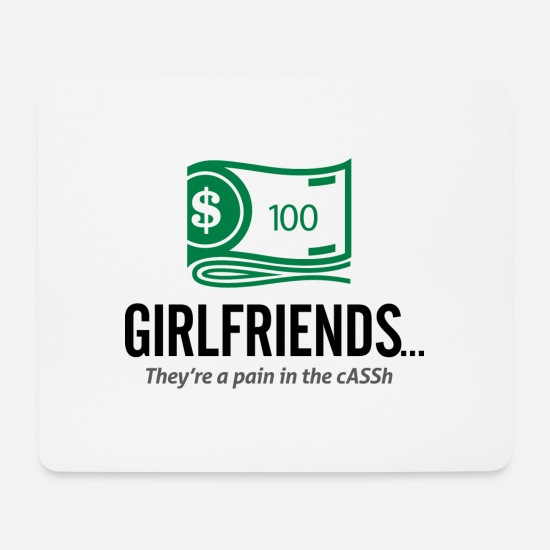 Sweetheart Mouse Pads - Girlfriends Are An Expensive Hobby - Mouse Pad white