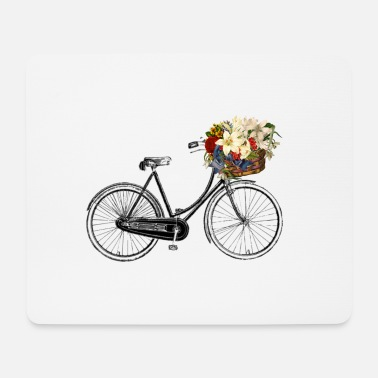 Bicycling bicycle-bicycle fleure - Mouse Pad