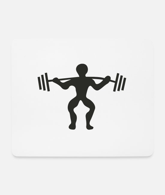 Bless You Mouse Pads - Health Gym Gym Pumping Iron Sport Shirt - Mouse Pad white