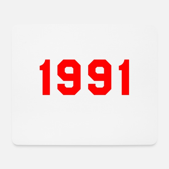 1991 Mouse Pads - 1991 birth year birthday design gift - Mouse Pad white