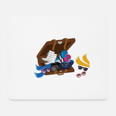 Winter Vacation winter vacation suitcase - Mouse Pad