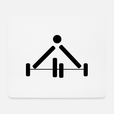 Pictograph Weightlifting Power Lifting Pictograph Dumbbell - Mouse Pad