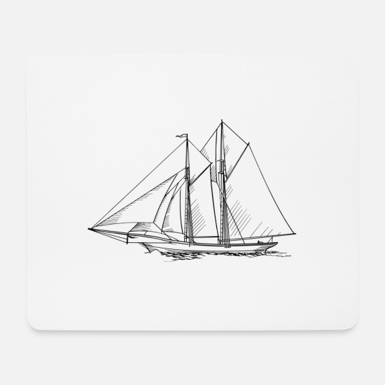 Sailboat Mouse Pads - sailboat - Mouse Pad white
