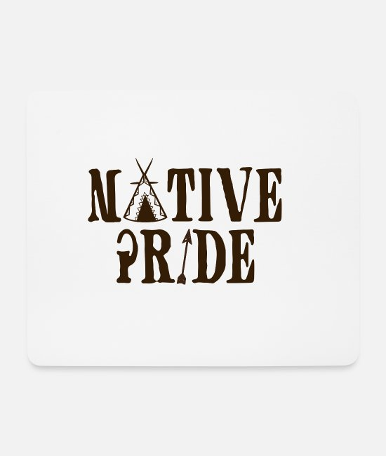 Sioux Mouse Pads - Indians: Native Pride - Mouse Pad white