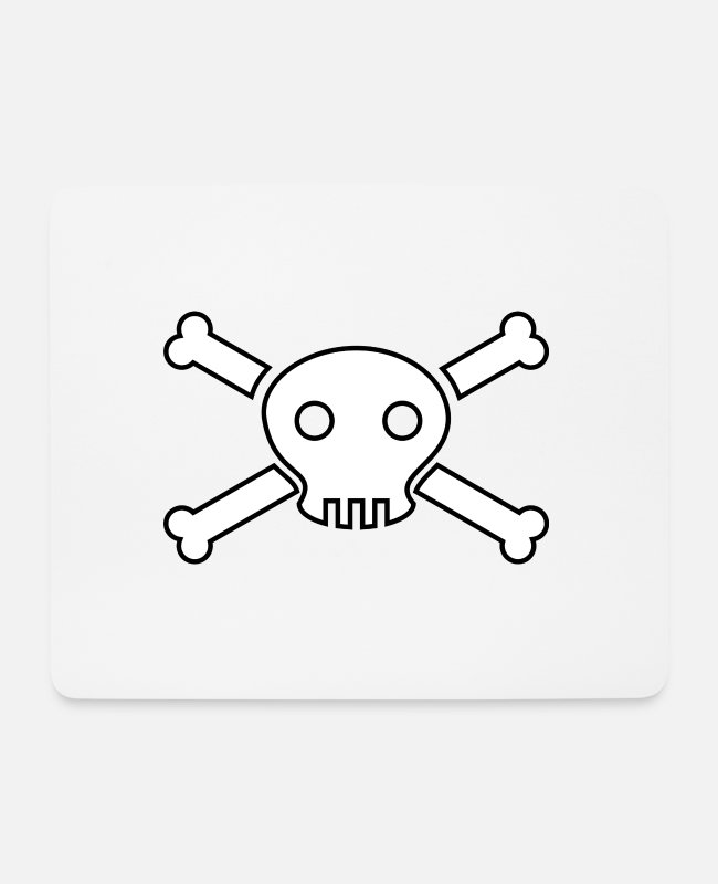 Gold Mouse Pads - pirate ship boat pirate pirate ship ship skull1 - Mouse Pad white