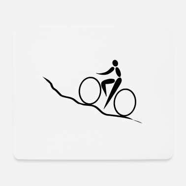Uphill cycling Bike bike ride uphill - Mouse Pad