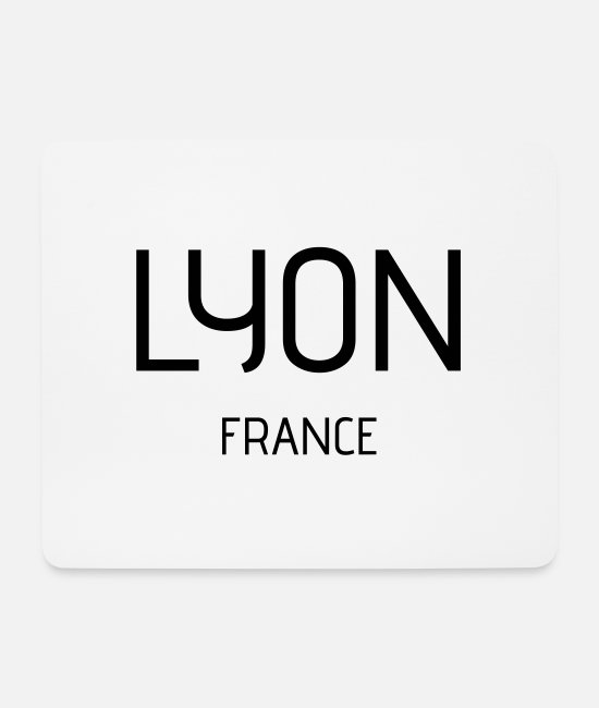 Travel Mouse Pads - Lyon - Mouse Pad white