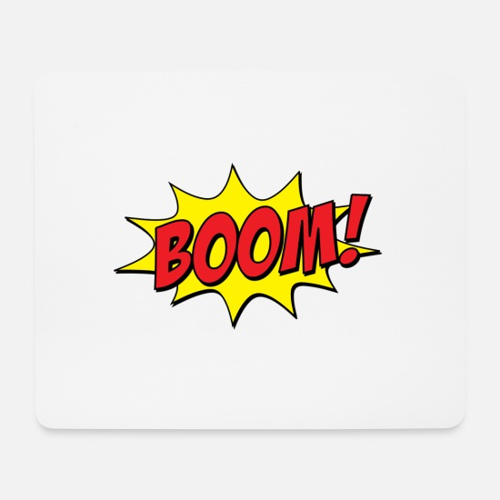 Kaboom Mouse Pads - BOOM! comic - Mouse Pad white