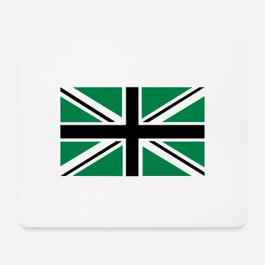 Jack Union Jack | black-white-green | Flag flag - Mouse Pad