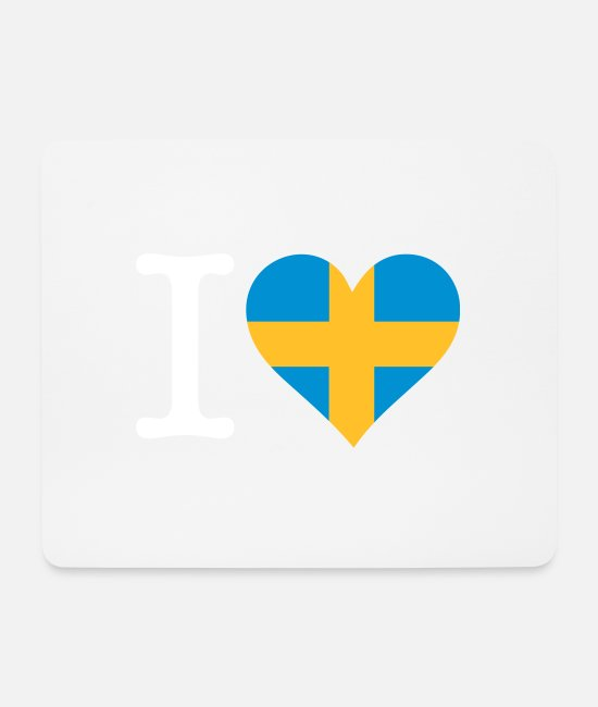 Sweden Mouse Pads - I Love Sweden - Mouse Pad white