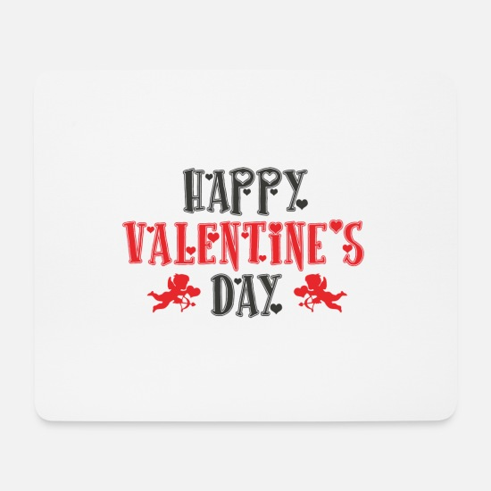 Amor Mousepads  - Happy Valentine's Day Valentinstag 2018 Geschenk - Mousepad Weiß