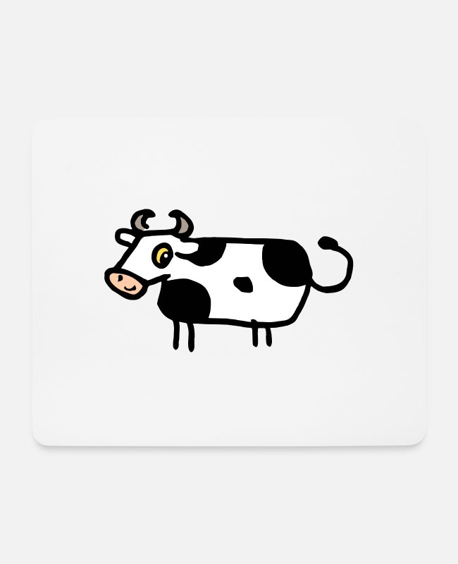 Dairy Cow Mouse Pads - Muh - Cow - Mouse Pad white