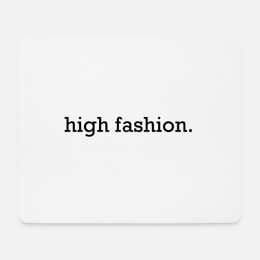 high fashion black - Mousepad