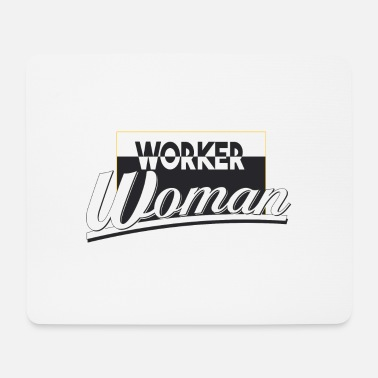 worker woman - Mouse Pad