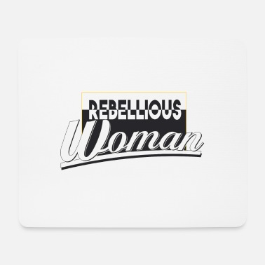 rebellious woman - Mouse Pad