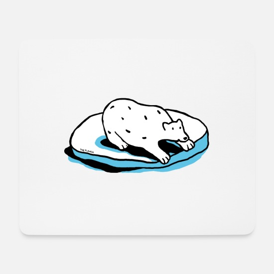 Ice Floe Mouse Pads - The polar bear - Mouse Pad white