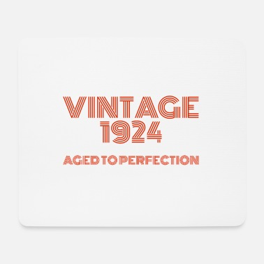 1924 Vintage Pop Art 1924 Birthday. Aged to perfection. - Mouse Pad