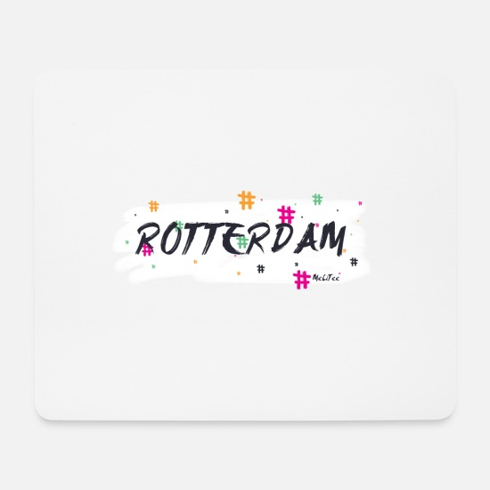 Hashtag Mousepads  - Rotterdam # 2 - Mousepad Weiß