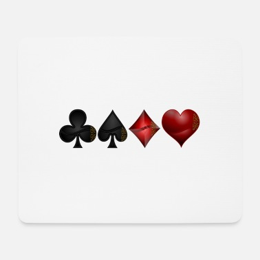 Cross pik check heart - Mouse Pad