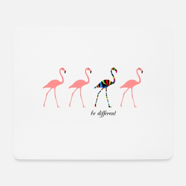 Zebra Flamingos - be different - Mousepad (Querformat)