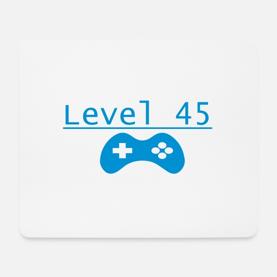 Birthday Mouse Pads - Level 45 - Mouse Pad white