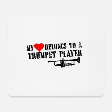 Gesang trumpet player - Mousepad (Querformat)