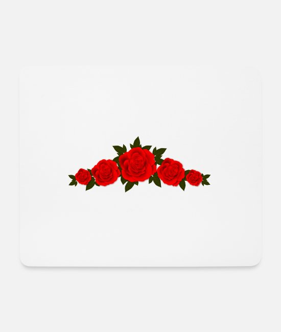 Garden Mouse Pads - roses - Mouse Pad white