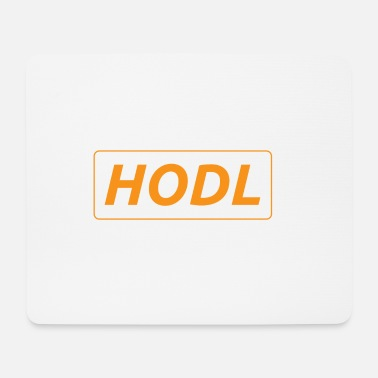 Recordatorio HODL - solo un simple recordatorio - Alfombrilla de ratón (horizontal)