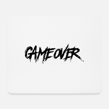 Game Over Game Over - Game End, Gamer Hatescreen - Mousepad (bredformat)