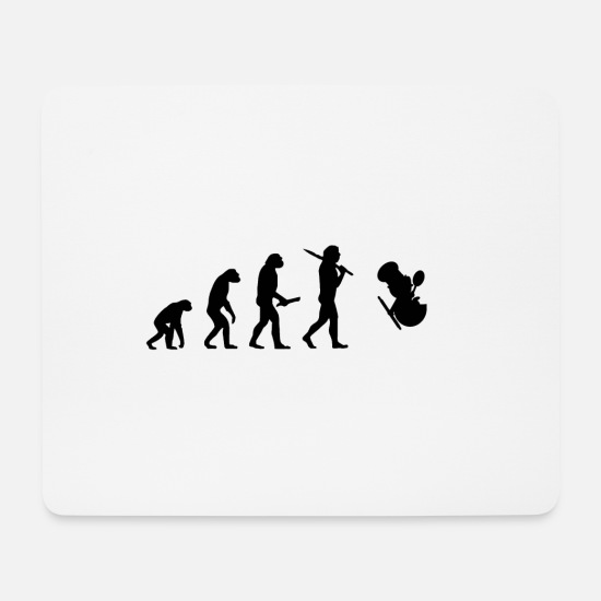Birthday Mouse Pads - Evolution evolution progress human chef - Mouse Pad white