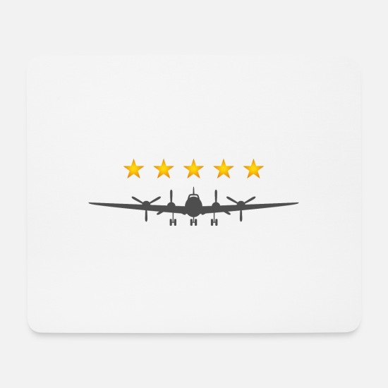 Symbol  Mouse Pads - Propeller Aircraft - Mouse Pad white