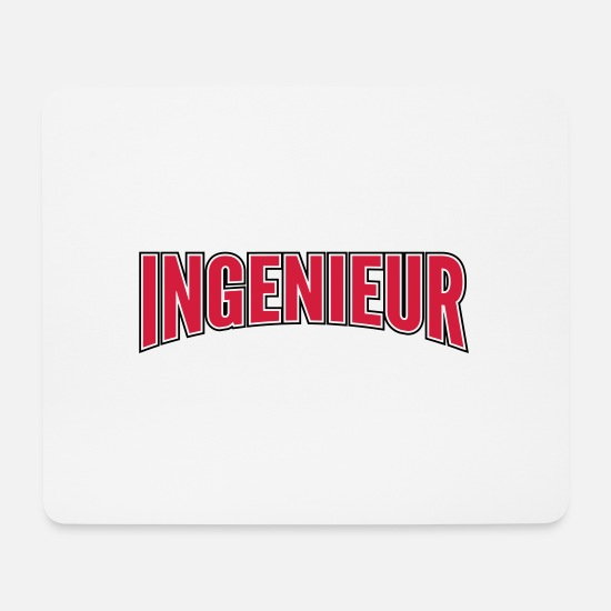 Diploma Mouse Pads - engineer - Mouse Pad white