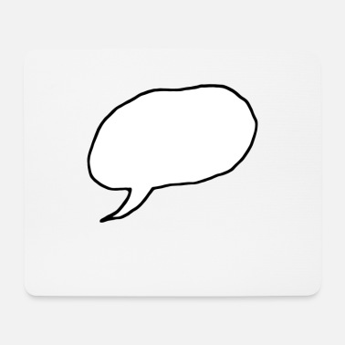 Speeches speech bubble - Mouse Pad