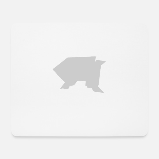 Origami Mouse Pads - Origami frog - Mouse Pad white