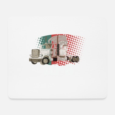 Freighter Trucker Truck driver Highway drive 4 Transport - Mouse Pad